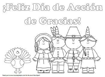 ¡Feliz Día de Acción de Gracias! coloring page by