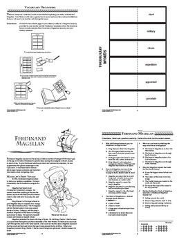 Ferdinand Magellan Spanish Explorer Interactive Notebook