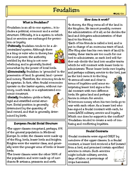 Feudalism In The Middle Ages By Lady Lion Teachers Pay Teachers