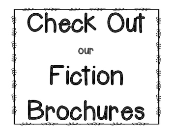 Fiction Brochure Reading Response and Graphic Organizer by