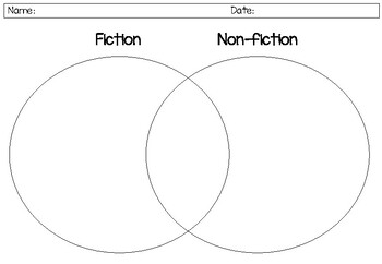 Fiction and Non-fiction features sorting venn diagram