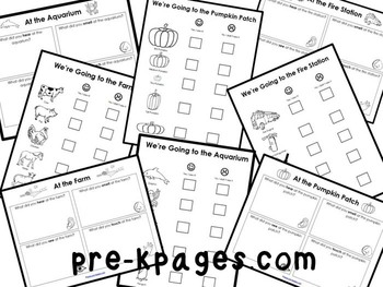 Field Trip Scavenger Hunt Printables for Pre-K & K by