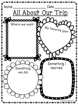 Field Trip Worksheet Activity Pack by Teaching Right Along