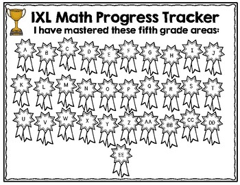 Fifth Grade IXL Math Tracking by Lockwood's Little