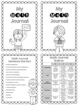 Fifth Grade Math Journal Prompts (5 prompts per CCSS