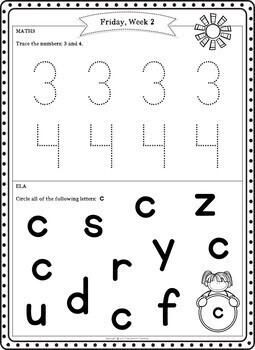 Preschool Summer Packet (Pre K Summer Review Homework) by
