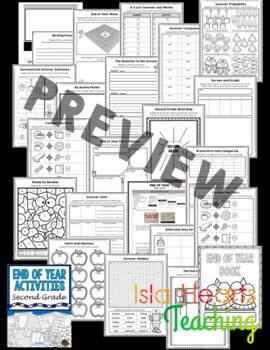 2nd Grade End of Year Activities (2nd Grade Last Week of