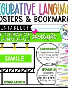 Figurative language anchor chart also posters teaching resources teachers pay rh teacherspayteachers