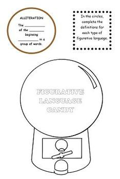 Figurative Language Candy Craftivity or Interactive