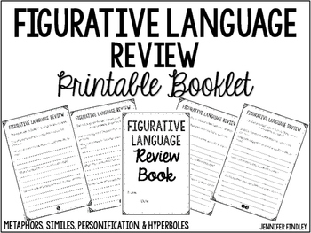 Figurative Language Review Printable Booklet by Jennifer