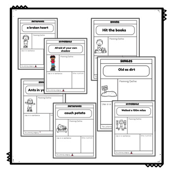 Figurative Language: Worksheets and Posters Bundle by The
