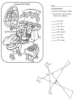 Find Missing Angles with the Grinch by Frantic Math