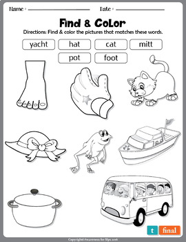 Articulation Homework Activity: Coloring Sheets for Speech