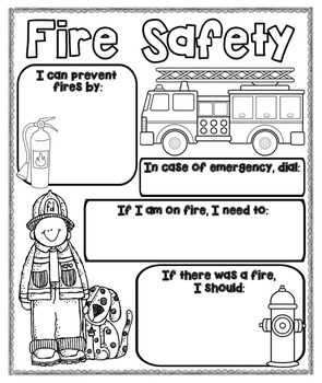 Fire Safety Poster {For Bulletin Boards} by Kids and