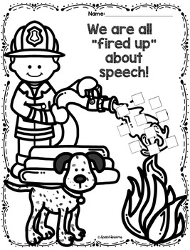 Fire Safety Speech Therapy Craft {Articulation Language