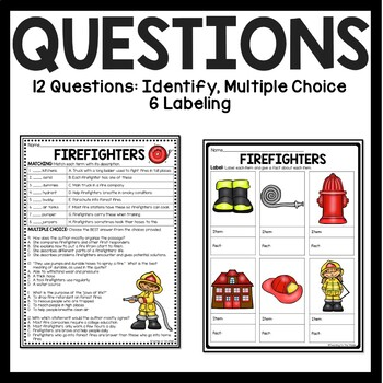 Firefighters Overview Reading Comprehension Worksheet By