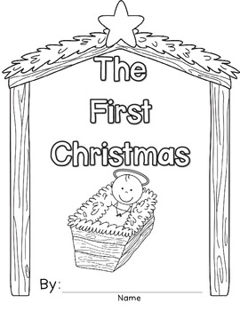 First Christmas Book, Writing, Nativity Coloring Page, and