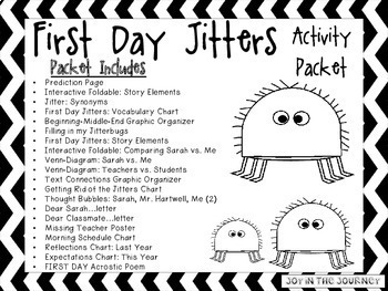 First Day Jitters by Joy in the Journey by Jessica Lawler