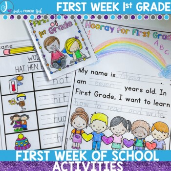 First Day of First Grade Activity and Assessment Pack by