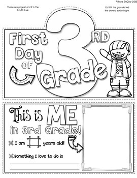 First Day of 3rd Grade Tab-Its® by Simply Skilled in