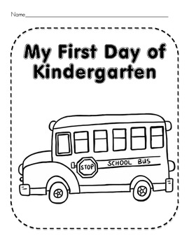 First Day of Kindergarten Worksheets and Activities by