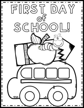 First Day of School Color Page {Texas Twist Scribbles} by