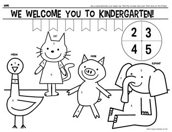 Welcome To Kindergarten & First Grade {Color Page} for Morning Work!