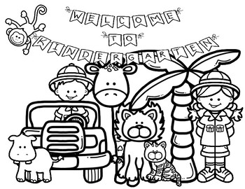 First Day Of School Coloring Pages Jungle Safari K 2 By Alecia Mabalay