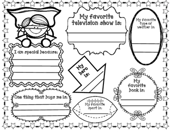 All About Me: Super Hero Theme Unit by Bilingual Teacher