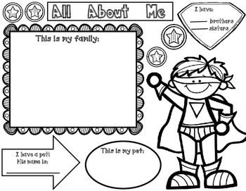 All About Me: Super Hero Theme Unit by Bilingual Teacher