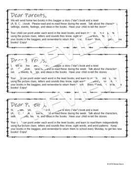 First Days of Kindergarten Homework and Letter to Parent