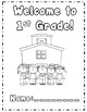 First Grade Back to School Activities *Common Core Aligned