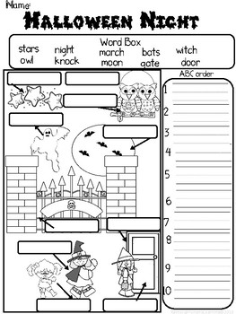 First Grade Common Core Halloween Worksheets by Fun and