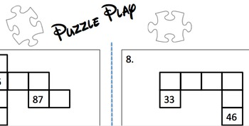 First Grade Common Core Hundred Chart Puzzle Cooperative