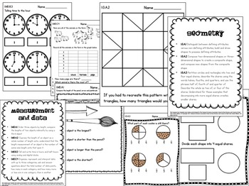 First Grade Common Core Math Assessments by The Research
