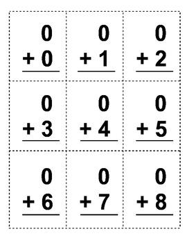 First Grade Common Core Math Fluency Flash Cards (CC.1.OA