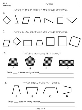 First Grade Common Core Math (G)-Assessments, Practice