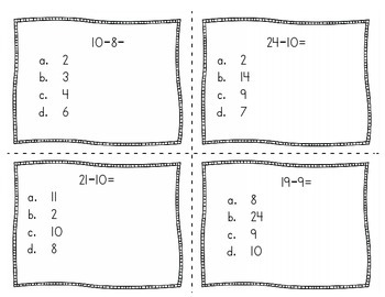 First Grade Common Core Math Task Cards by The First Grade