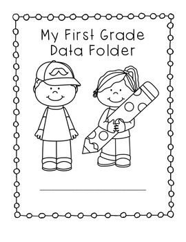 First Grade Data Folder Assessment by Fantastical First