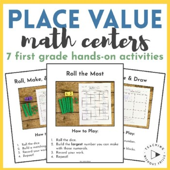 |First Grade| Hands-On Place Value Practice Using Base Ten
