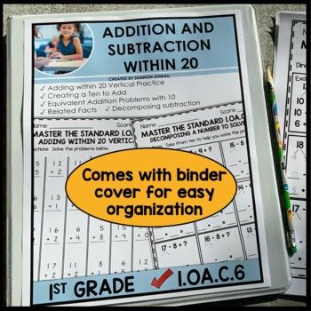 First Grade Math Worksheets 1.OA.C.6 STANDARD Practice