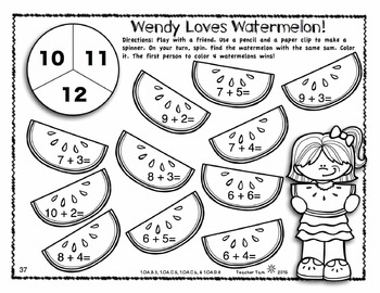 End of the Year First Grade Math & Literacy Worksheets