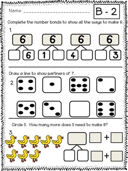 First Grade Math Module 1 Quick Checks by Corleto Common