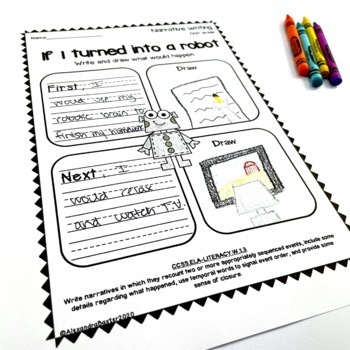 First Grade Narrative Writing Prompts/Worksheets by