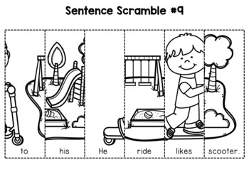 First Grade Sentence Building (Set 1) by Teaching