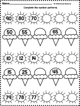 First Grade Summer Math Review Packet by Intentional Momma