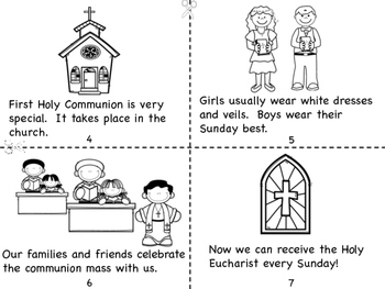 First Holy Communion Mini Book and Coloring Pages by Miss