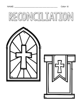 First Reconciliation Coloring and Writing by Countless