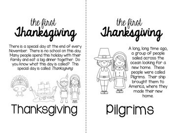 The First Thanksgiving Story Posters and Coloring Book by