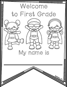First Week of School Activities: First Grade by Alecia